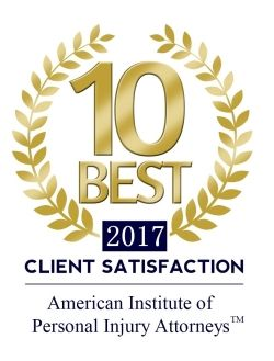 American Institute of Personal Injury Attorneys 2017 10 Best Client Satisfaction Logo